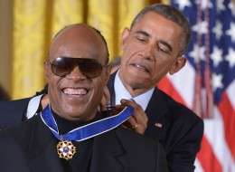 US-POLITICS-MEDAL OF FREEDOM-STEVIE WONDER