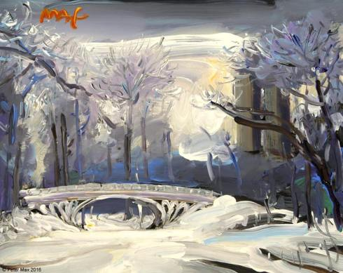 PeterMax.SnowyDay.Mar2016.CParkReservoirBridge